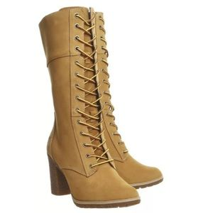 Timberland Glancy 10 Inch Full Lace Boots Wheat